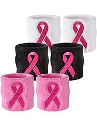 Suddora Paire de 2 serre-poignets anti-transpiration–Lutte contre le cancer du sein