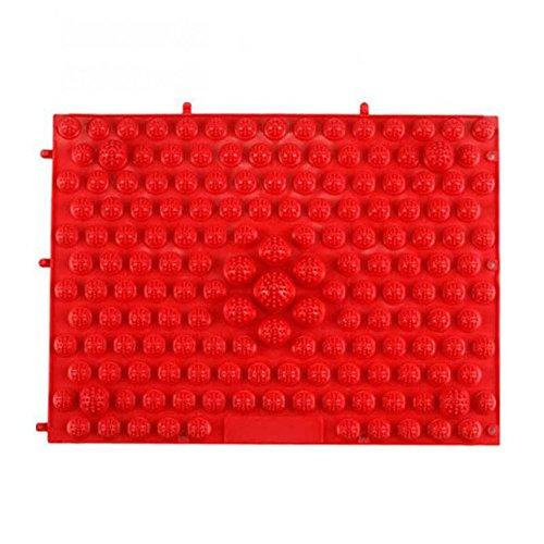 Yuke Running Man Shiatsu Platte Fußmassage Kissen Shiatsu Blatt Kleine Winter Bambussprossen Finger Clampe 40 * 30 cm (Farbe : Rot)