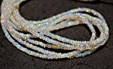 17 Inches Strand, Ethiopian Opal Beads, Natural Welo Opal, Opal Plain Rondelle Beads, Smooth Opal Beads, 3mm