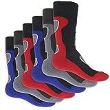 6 Paar - Herren Thermo Socken Vollfrottee im sportlichen Design - super weich und warm - in 3 modischen Farbkombinationen