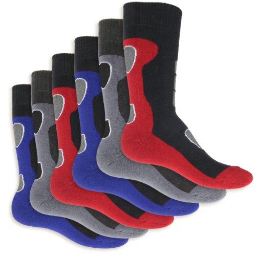 6 Paar Herren Thermo Socken Vollfrottee-43-46