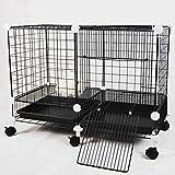 Jizhen Pet Playpen Small Animal Crate DIY Portable Animal Yard Fence Kennel Foldable