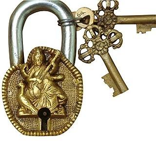 Aakrati VZG156 Goddess Saraswati Pad Locks of Brass