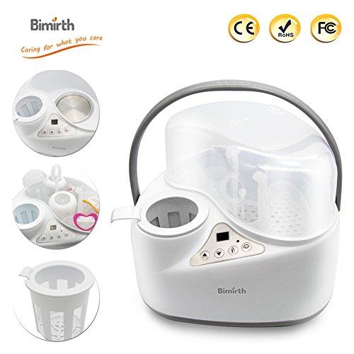 4 in 1 Flaschenwärmer, Bimirth warme Milch Sterilisation mit Heizung, wärmer, Elektro-Dampf-Sterilisation und Lagerung für Food Bottle Trocknung