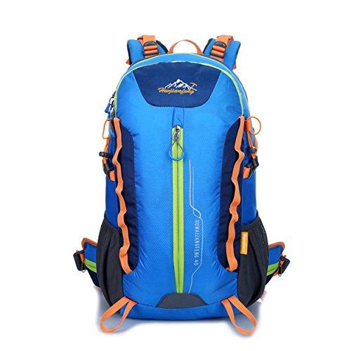 XY-QXZB Zaino da arrampicata 40L, sport all'aperto grande porta portatile a piedi da viaggio alpinismo borsa multifunzione spalla 32 x 50 x 22cm , blue