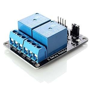 Neufech 5V 2 Canali Relay Module Scheda per Arduino PIC AVR DSP MCU Rele Modul
