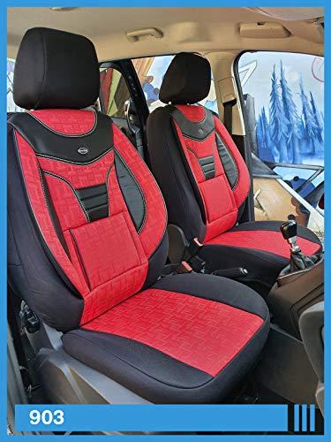 Maß Sitzbezüge kompatibel mit Opel Mokka X Fahrer & Beifahrer ab BJ 2016-2018 Farbnummer: 903
