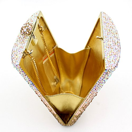 Abendbeutel der europäischen und amerikanischen Stil Kristall voller Diamantbohrer Tasche Trapez Messenger Tasche Schwarz-Weiß picture color