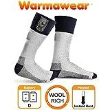 Warmawear Battery Heated Socks with Reflective Strip
