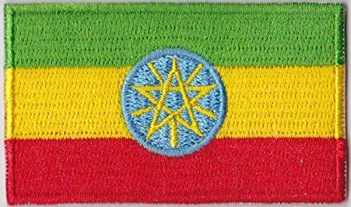 Flaggen Aufnäher Patch Äthiopien mit Wappen Fahne Flagge - 6 x 3,5 cm (äthiopien Patch)