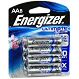 Energizer Ultimate Lithium Batteries AA - 8 Ct, Pack Of 2
