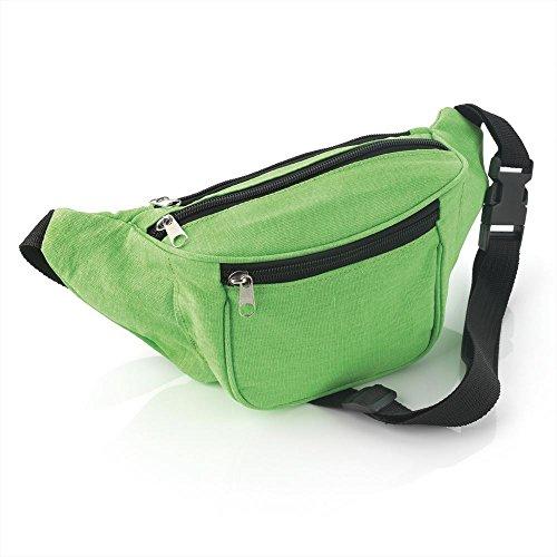 Neon Green Fabric Hip Belt Bum Bag