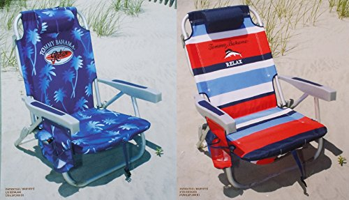 2-tommy-bahama-2015-backpack-cooler-chairs-with-storage-pouch-and-towel-bar-1-blue-and-1-red-striped