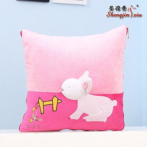 Il coniglio peluche cartoon cuscino è 40*40cm ,Rosa