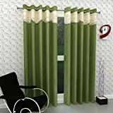 Home Pictures For You (Set of 2) Eyelet Polyester Window-4ftx5ft Curtains, Green
