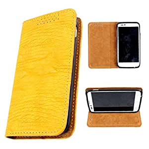 i-KitPit PU Leather Flip Case For Sony Xperia L (YELLOW)