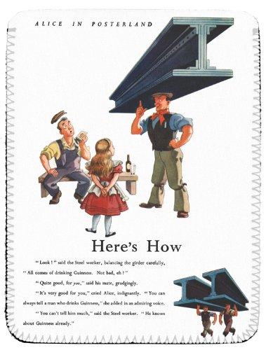 Alice nel paese delle meraviglie, Guinness-lavoratori 1949 ALICE046 in acciaio,) IPAD CASE