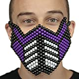 Purple Sub Zero Special Edition Full Kandi Mask by Kandi Gear, rave mask, halloween mask, beaded mask, bead mask for music fesivals and parties