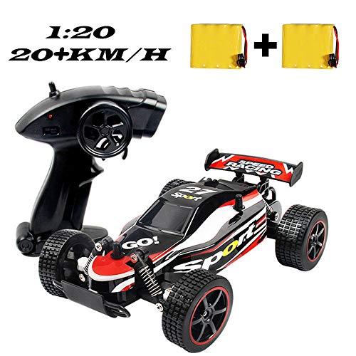 SZJJX Ferngesteuertes Auto, Hohe Geschwindigkeit RC Rennauto Rennfahrer, 1:20 Maßstab Fahrzeug, 2,4GHz 2WD Elektro Funkfernsteuerung Off-Road Buggy Spielzeug für Kinder Geschenk Rot