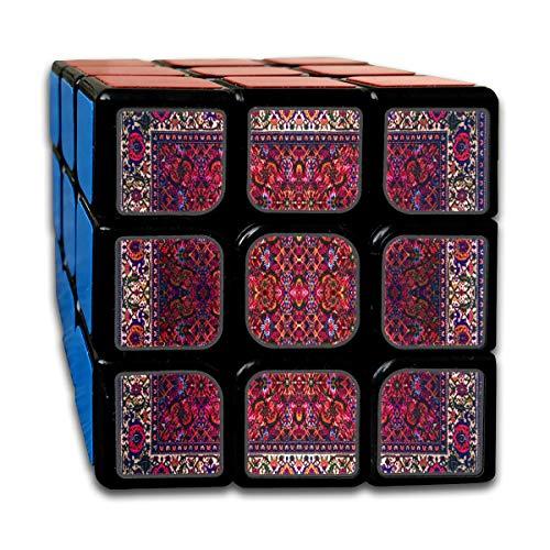 Cubo mágico personalizado 3x3 para niños Los mejores juguetes de entrenamiento cerebral 3x3x3 Mandala redondo persa Patrón abstracto Juego de cubo mágico del Medio Oriente Juego de fiesta para niños