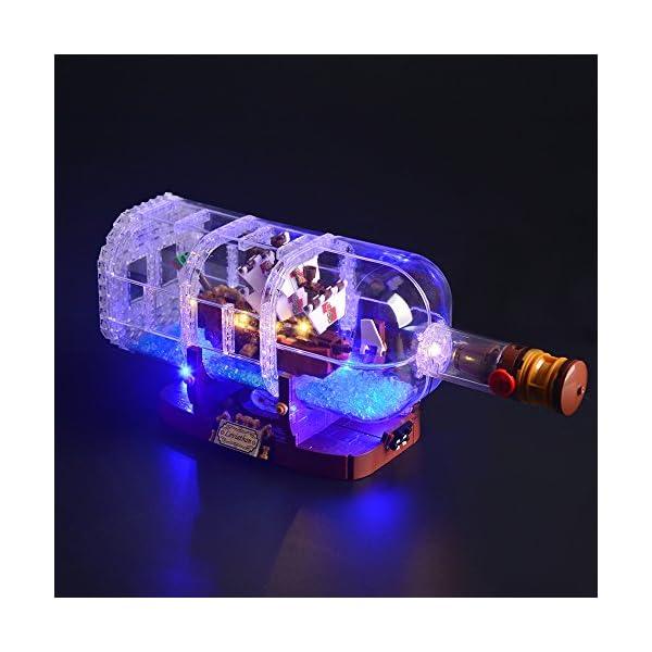 LIGHTAILING Set di Luci per (Nave in Bottiglia) Modello da Costruire - Kit Luce LED Compatibile con Lego 21313 (Non… 2 spesavip