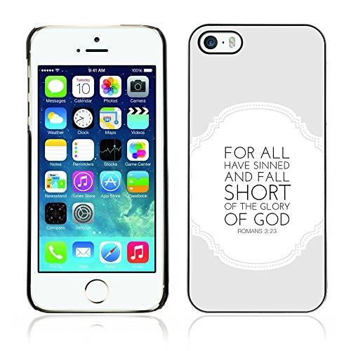 Bild Herrlichkeit (DREAMCASE Bibelzitate Bild Hart Handy Schutzhülle Schutz Schale Case Cover Etui für APPLE IPHONE 5 / 5S - 3:23 Romantik Herrlichkeit des Gottes)