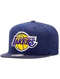 Casquette Denim Lakers Mitchell & Ness casquette snapback cap