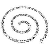 SoulCats® Halskette Königskette Panzerkette Edelstahl silber, Größe:5 mm, Auswahl:Kette 60 cm, Farbe:Silber