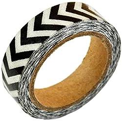 2 rollos de cinta adhesiva decorativa de tela