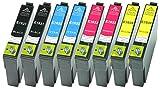 8 XL Druckerpatronen Schwarz, Cyan, Magenta, Yellow ersetzen Epson T1631 T1632 T1633 T1634 Nr.16 Nr.16XL geeignet z.B. für Epson WorkForce WF-2010, WF-2510, WF-2520, WF-2530, WF-2540, WF-2630, WF-2650, WF-2660, WF-2750, WF-2760