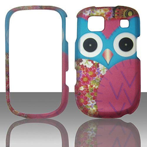 Lg Att Handys (2D blau pink Eule ZTE Z431(AT & T GO Telefon) Schutzhülle Handy Snap auf Cover Case Protector Blenden)