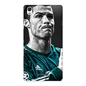 Enticing Calmness Football Back Case Cover for Sony Xperia T3