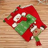 creative conto alla rovescia calendario dell' avvento, Natale, albero di Natale decorativo, home office 20×70 cm As Shown1