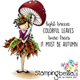 "Stamping Bella Cling Stamp 6.5""X4.5""-Tiny Townie Autumn Loves Autumn"
