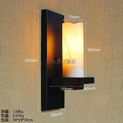Wandleuchte Globen Glas (BESPD Haupt Schlafzimmer Wandleuchten Retro Lampen Transitkorridor Spiegel vor hellem Marmor Glas Globen Wandleuchten, D LED)