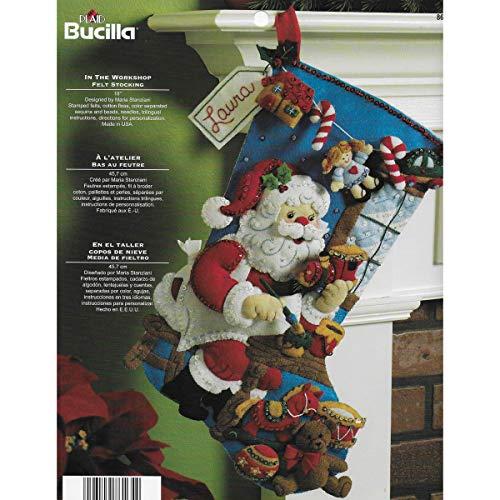 Bucilla Weihnachtsstrumpf aus Filz (Weihnachtsstrumpf Filz Kit)