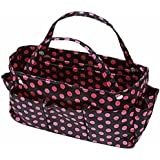 Black & Pink Polka Dot Organizer Travel Bag