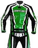 4LIMIT Sports Motorrad Lederkombi LAGUNA SECA Zweiteiler, Schwarz-Grün, Größe M
