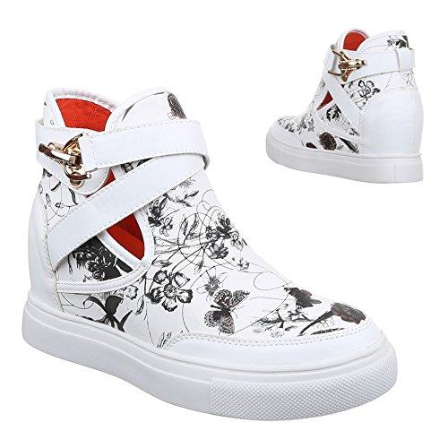 Ital-Design , Chaussures pour les loisirs  femme Blanc - Blanc