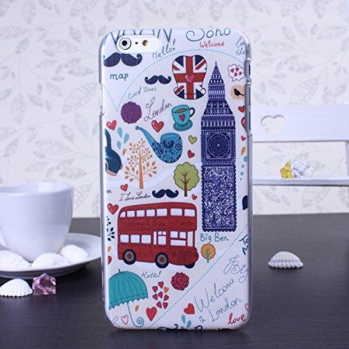 Bunte Nationale Berühmte Gebäude Big Ben Schiefen Turm von Pisa Freiheitsstatue Design Kunststoff Hard Case für IPhone 6S 6 ( Color : 3 , Size : IPhone 6S 6 ) 4