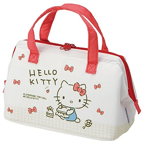 8a8146e3ba SKATER Pouch-Type Insulated Lunch Bag for Bento 22x11.5x16cm Handbag with  Thermal Lining Cool-Warm KGA1 by from Japan (Sanrio Hello Kitty Check ...