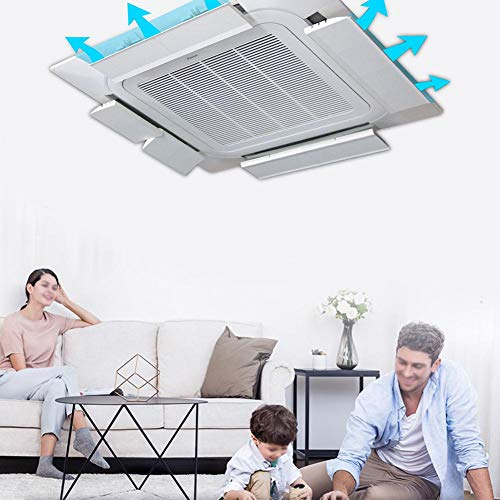 Wood.L Ceiling Central Air Conditioning Deflector Free Adjustable Side Windshield Baffle Universal Air Outlet Cover Anti-Direct Blowing Baffle for Home, Bedroom, Office eco Friendly -