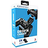 CAPCY Playstation 4 Dropn Charge Ladestation für zwei PS4 Dualshock 4 Controller