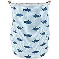 Gran cesta de caja de juguete y de almacenamiento, organizador de juguete tiburón bandejas plegable