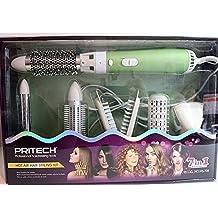 Estuche de peluquería (Moldeador 7 en 1 Verde Secador Pelo Brushing hierro