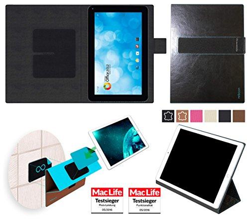 reboon Hülle für Blaupunkt Endeavour 1000 WS Tasche Cover Case Bumper | in Schwarz Leder | Testsieger