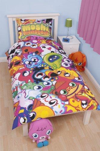 Image of Character World 135 x 200 cm Moshi Monsters Moshlings Single Panel Duvet Set, Multi-Color