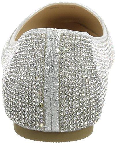 Quiz Diamante Pumps, Ballerines femme Argenté