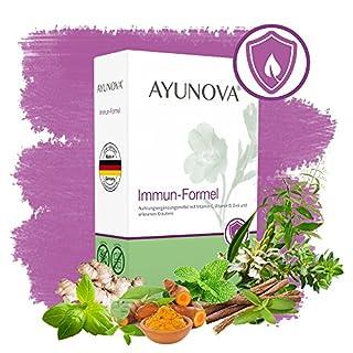 AYUNOVA Immun-Formel - 60 vegane Kapseln mit der einzigartigen Kombination aus bewährten Pflanzen, essentiellen Vitaminen und Mineralstoffen - Für ein starkes Immunsystem