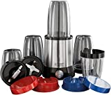 Russell Hobbs Nutri Boost 23180-56 Multifunktionsmixer Smoothie Maker 700 W, 0,9 PS-Motor, schwarz/silber